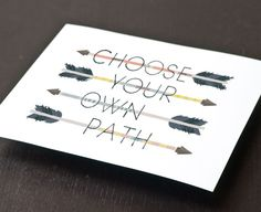 Choose your own path.  This is among other items at Etsy all geared toward The Hunger Games.