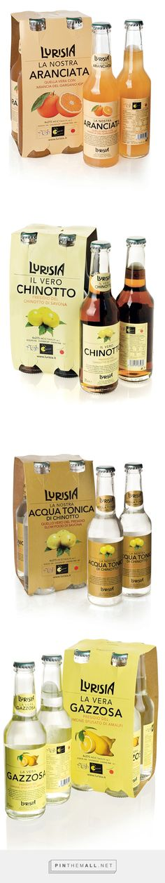Lurisia drinks by Nico Bert. Source: Packaging Design Served. Pin curated by #SFields99 #packaging #design