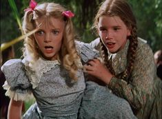 """TV's Laura Ingalls and Nellie Oleson were rivals, but Melissa Gilbert and Alison Arngrim were the best of friends while filming """"Little House on the Prairie."""""""