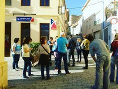 Y como todos los sábados recibimos a nuevos visitantes en el casco antiguo de #ribaroja.. #visitaguiada #patrimonio #turismo