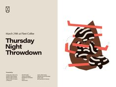 Barista Tournament Flier for Fleet Coffee by Ryan David Curtis on Dribbble David Curtis, Web Patterns, Coffee Design, Barista, Branding, Composition, Posters, Graphics, Graphic Design