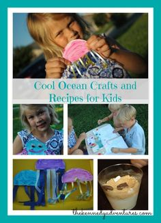 A Book and a Big Idea: Commotion in the Ocean - Octopus craft, Jellyfish craft and Beach Pudding! #homeschool #preschool