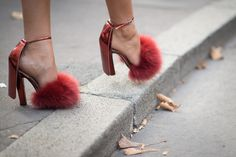 The Street Style Accessories That Stopped Traffic at Fashion Week --- Now this is what we call a slipper heel, courtesy of Alexander Wang.