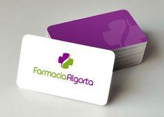 Algorta es el nombre de una farmacia ubicada en Madrid.  Nuestro cliente necesitaba un cambio de imagen corporativa coincidiendo con la reforma del interiorismo de su local.  Querían un logotipo basado en la cruz de una farmacia, reconocible y al mismo tiempo original y moderno.