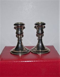 Godinger Silver Plated  Candle Holders  Pair