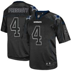 Nike Cowboys #4 Dak Prescott Lights Out Black Men's Stitched NFL Elite Jersey