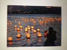 What about also having some floating lanterns in the pool with the floating flowers?! ...