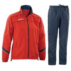 Asics Suit America melegítő piros,tengerészkék unisex Asics, Suit, America, Unisex, Suits, Formal Suits, Usa