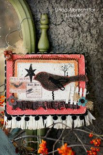 Beautiful fall home decor piece made by @Linda Albrecht using #GlueArts adhesives and #Core-dinations papers.