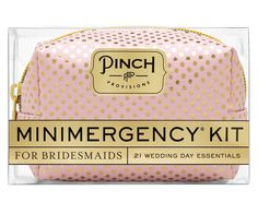 Pinch Minimergency Kits are one of the greatest gifts - this tiny pouch is jam packed with all kinds of essentials, from needles to breath mints, games and more.