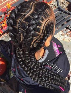 Curvy Thin And Thick Box Braids  #Hairstyles For Women    www.allhairstylesforwomen.com Tag a friend who Love this!