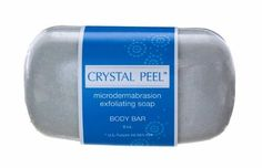 Crystal Peel Microdermabrasion Exfoliating Soap Body Bar, 8 Ounce, White/Blue