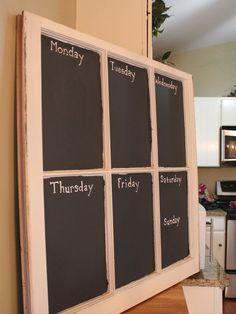 Chalkboard Window Weekly calendar memo by CricketStudioArtwork, $90.00