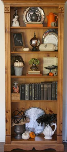How to decorate a bookcase. The essential elements of a beautiful bookcase display & how to achieve the look. Clever use of an analogy to a legal case. Styling Bookshelves, Bookcase Shelves, Shelving, Book Shelves, Arranging Bookshelves, Leaning Shelves, Home Office Furniture, Diy Furniture, Tuscan Furniture