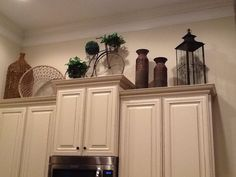 Decorating over kitchen cabinets...