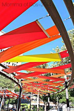 Momma of Dos: ::San Antonio // Riverwalk:: San Antonio Riverwalk, Landscape Architecture, Landscape Design, Architecture Design, Mall Design, Canopy Design, Shade Structure, Street Furniture, Display Design