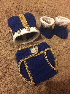 Newborn Picture Outfit Boy Baby Boy First Picture Outfit image 6 Newborn Picture Outfits, Newborn Baby Photos, Baby Boy Newborn, Baby Boy Outfits, Newborn Crochet, Crochet Baby, Navy Baby Showers, Crochet Crown, King Outfit