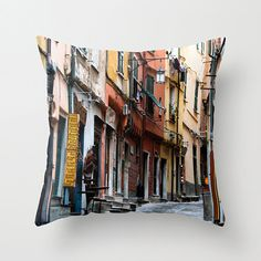 Streets of Italy Pillow Lucca Italy Pillow by NatureImagesByDesign  -- Join DigiColorCreations.com today and make custom-designed items for your Etsy shop!