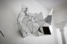 Rhino sculpture, by London-based sculptor and illustrator Arran Gregory.