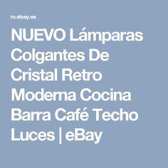 NUEVO Lámparas Colgantes De Cristal Retro Moderna Cocina Barra Café Techo Luces   eBay