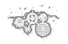 #Mapvember Day 20 : #Codex The house of Adenor Adenor's house, an archivist hobbit, is in the small hamlet of Jodal in a verdant valley. The building is a typical construction of the hobbits, dug in the side of a hill. It has a large entrance hall and two living rooms, and also the office and the personal library of the archivist. Adenor has amassed an impressive number of manuscripts during his life. As usual you can download Free High quality map for your personal use on the blog…