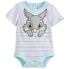 Baby will have a delayed spring awakening when snuggled into this cuddly cotton Bambi bodysuit with fuzzy Thumper applique. Disney Baby Clothes Boy, Cute Baby Clothes, Baby Boy Outfits, Disney Babys, Baby Disney, Disney Store Toys, Bb Reborn, Newborn Halloween, Baby Shower Labels