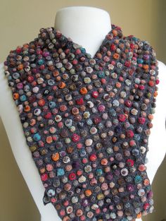 Biscuit pop lilliput small scarf — French Needlework Kits, Cross Stitch, Embroidery, Sophie Digard — The French Needle