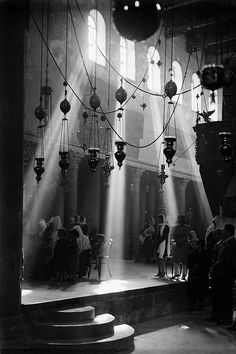 Church of the Nativity, Bethlehem, by American Colony Jerusalem Photo Department, ca. 1936 by trialsanderrors, via Flickr