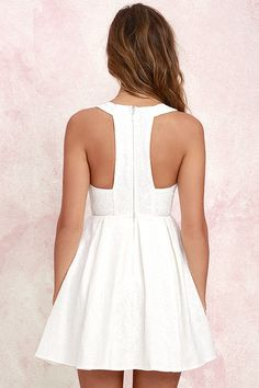 Sweet Queen Ivory Lace Skater Dress at Lulus.com!