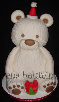 Teddy bear 30cm high, all edible.