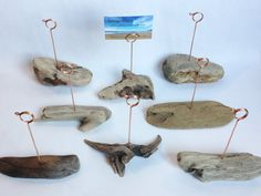Beach Wedding Place Card Holders, Table Number Holder Centerpieces, Driftwood Picture Holder Display