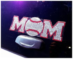 Hey, I found this really awesome Etsy listing at https://www.etsy.com/listing/130383966/baseball-mom-rhinestone-bling-proud