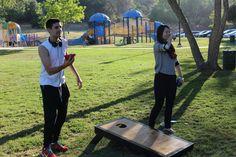 https://flic.kr/p/uR9GoC | Cydcor Summer 2015 Intern Kick-Off 6 | Playing games at Triunfo Park!  #cydcor #interns #fun #activities #park #teambuilding #agourahills #games #cornhole