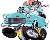"""1955 Chevy """"High Five'n"""" by Vince Crain"""