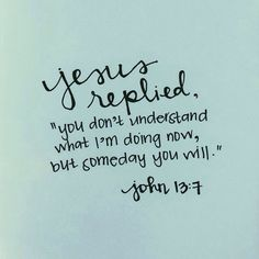 The Lord works in mysterious ways. His plans for us are greater than the plans we have for ourselves.