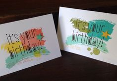 So Shelli - So Shelli Blog - Another Batch of Birthday Cards - Work of Art, Gorgeous Grunge & Big News stamp sets