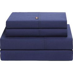 tommy hilfiger 200 thread count high signature sheet set in dark blue