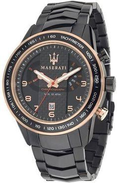 Maserati Watch R8873610002 Corsa Men Gents Luxury Carbon Fiber Black Rose Gold #Maserati #Dress