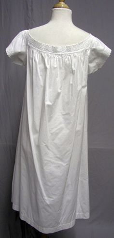 #V3 - 1860's Cotton Hand Embroidered Victorian Chemise Hand Sewn