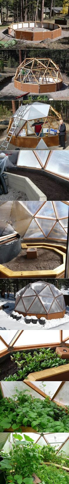 DIY Geodesic Dome Greenhouse https://www.youtube.com/user/AWorld4Change www.AWorld4Change.com #sustainablechange