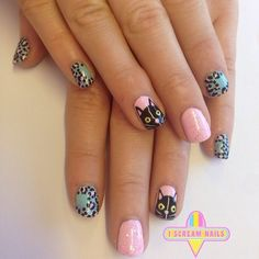 Check out the cute, quirky, and incredibly unique nail art designs that are inspiring the hottest nail art trends. Sassy Nails, Love Nails, Pretty Nails, Spirit Finger, Cat Nails, Best Nail Art Designs, Beautiful Nail Art, Cool Nail Art, Nail Arts