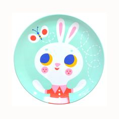 Helen Dardik Melanine Plate - Bunny Rabbit - Little Citizens Boutique