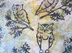 BATIK FABRIC OWLS GORgEOUS