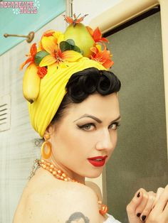 how to diy carmen miranda headscarf - Google Search