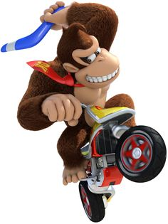 View an image titled 'Donkey Kong Art' in our Mario Kart 8 art gallery featuring official character designs, concept art, and promo pictures. Mario Kart 8, Super Mario Kart, Mario Bros., Wii U, Overwatch, Woody, Nintendo World, Nintendo 64, Diddy Kong