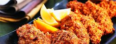 Healthiest southern-fried chicken: Who says down-home has to be synonymous with high-fat? Fried Chicken, Tandoori Chicken, Lunch Ideas, Nom Nom, Fries, Southern, Health Fitness, Menu, Fat
