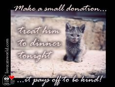 Make a small donation, and treat him to dinner tonight  ... http://www.gofundme.com/3sl6pk