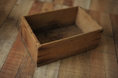 NB & sitter prop- small antique wooden crate. bed for newborns and stool for sitters