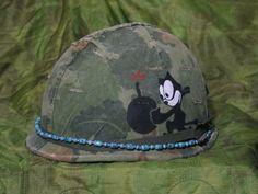Vietnam Helmet Art | Then found pin from Australian collector