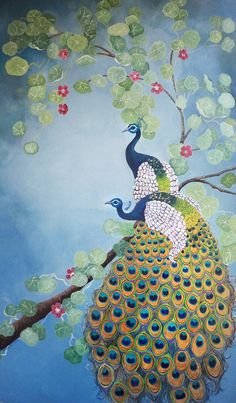 Peacock Print by SnowyEgretPress on Etsy, $17.50